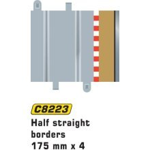 Scalextric C8223 Borders Tan Half Straight 6.75 inches