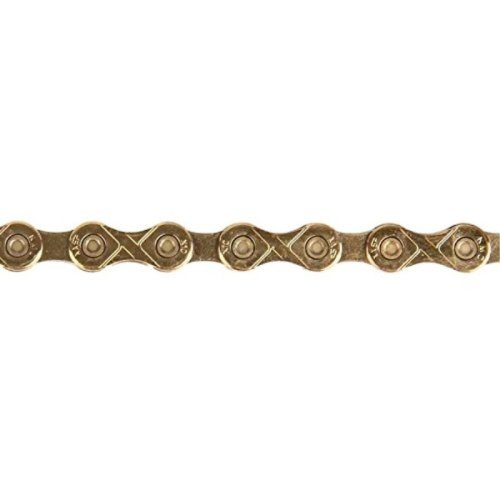 KMC X10 Bicycle Chain (Ti Gold, 1/2 x 11/128 - Inch, 116 Links)