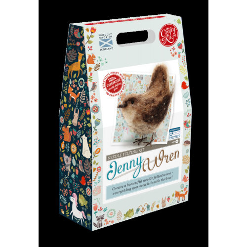 Jenny Wren Felting Kit - Includes everything you need- By The Crafty Kit co.