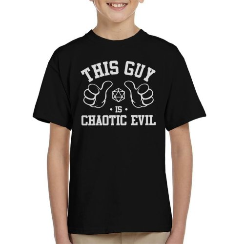 Dungeons And Dragons This Guy Is Chaotic Evil Kid's T-Shirt