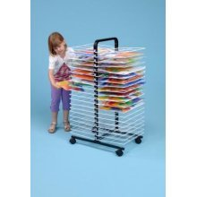 40 Shelf Small Mobile Art Drying Rack (A1264)