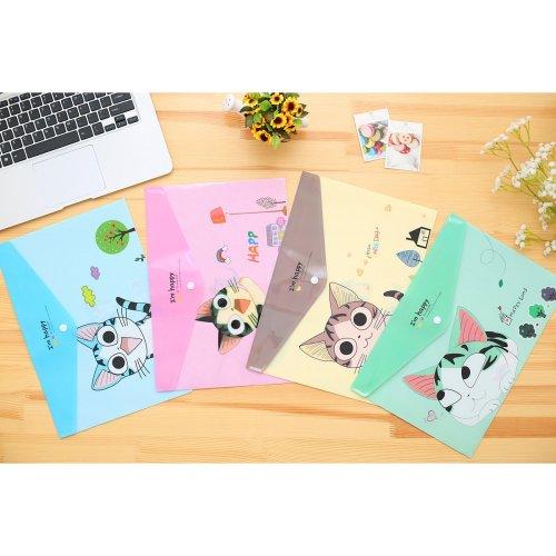 Cute Kitten Cat A4 Document Wallets (A Set of 4)
