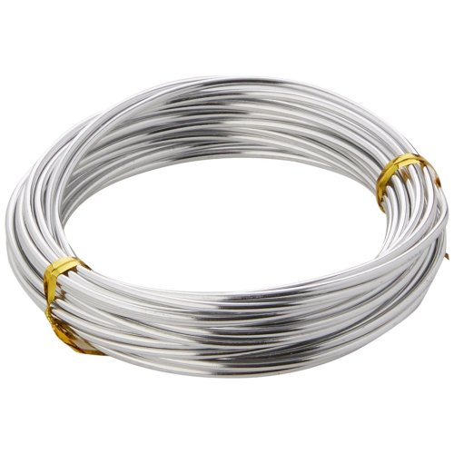 Efco 2 mm x 5 m 42 g Approximately Aluminium Anodised Wire, Silver