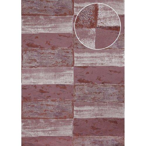 Atlas ICO-5072-5 Stone tile wallpaper shimmering black-red wine-red 7.035 sqm