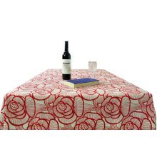 [Peony]Cotton Canvas Tablecloth / Table Cloth / Table Cover(57 x 57 Inch)
