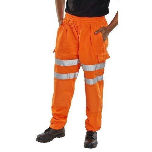 Click BSJBOR4XL Hi Vis Orange Sweat Pants Jogging Bottoms 4XL