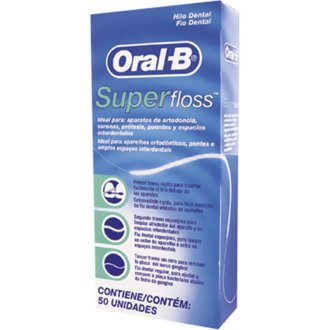 2 x Oral -B Super Floss 50 PRE-CUT STRANDS, Dental Floss