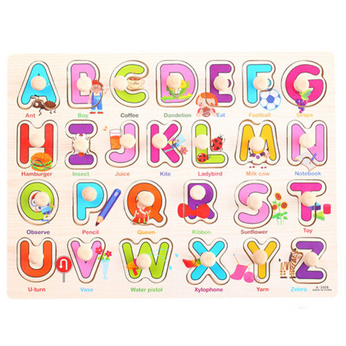 Kids Playschool Preschool Puzzled Educational Toy Wooden Puzzle,Letters & words