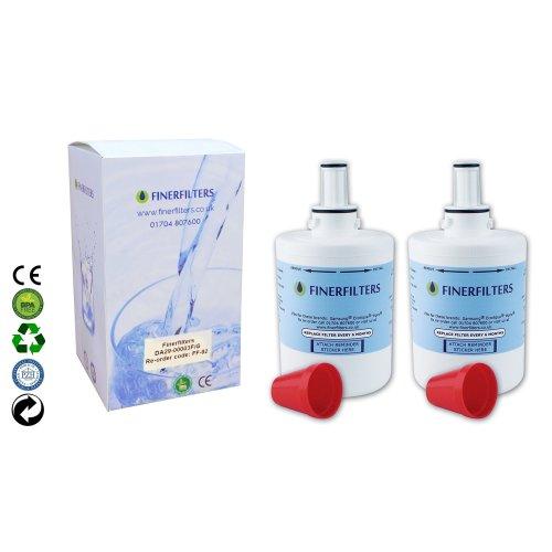 2 x Finerfilters Compatible Samsung Aqua Pure Plus Fridge Water Filter