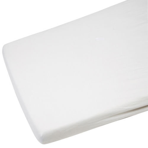 4x Cot Jersey Fitted Sheet 100% Cotton 120x60cm White