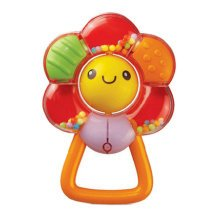 Colorful Flower Ratlle Teething Ring Cute Ratlle Toys for Baby 3 Months 13*9CM