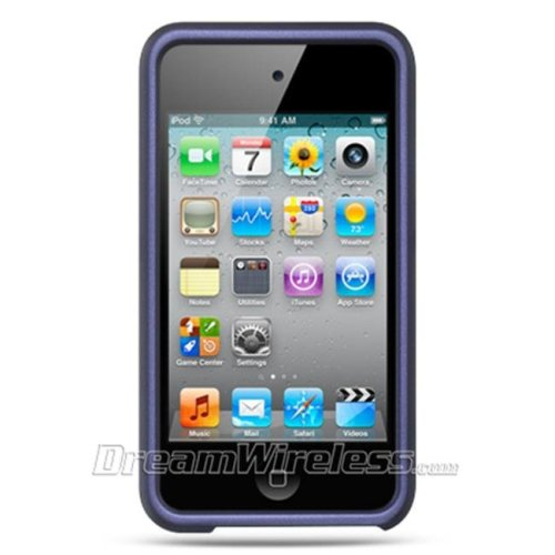 DreamWireless IPOD-CRTH4PP Apple Ipod Touch 4 Crystal Rubber Case - Purple