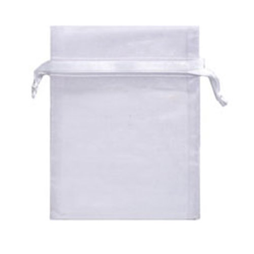 ORGANZA POUCH BAG JEWELLERY WEDDING RECEPTION PARTY SWEETS FAVOURS XMAS GIFTS [White, 8x11cm / 3.1x4.3inch, 50]