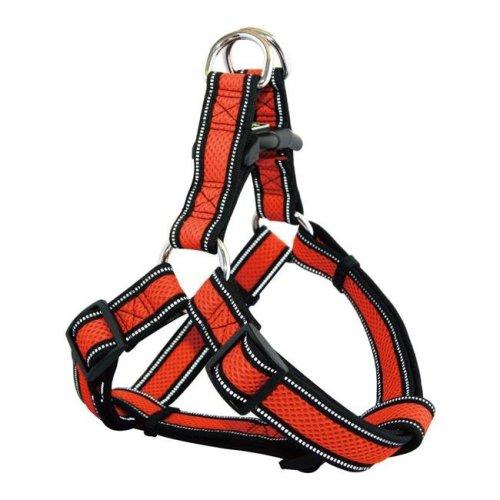Doco DCA207-S8XL Athletica City Walker Mesh Harness Leash, Orange - Extra Large
