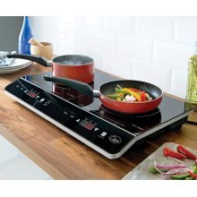 Powerful 2800W Double Digital Induction LED Hob Twin Rapid Heat System Electric New
