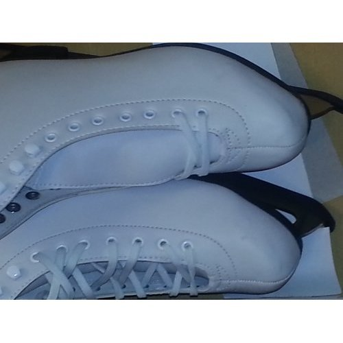 American Athletic Shoe Womens Leather Lined Ice Skates White 8