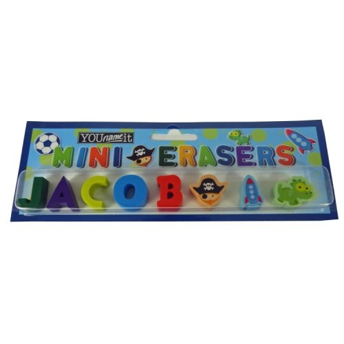 Childrens Mini Erasers - Jacob