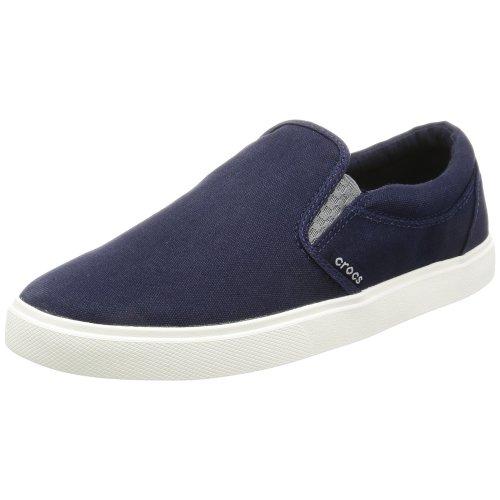 Crocs Citilane Slip-on Sneaker Men Low-Top, Blue (Navy/White), 8 UK (9 US)