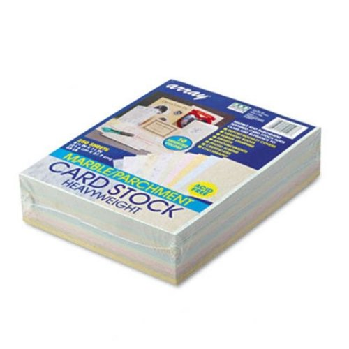 Pacon 101196 Array Card Stock- 65lb- Assorted Marble/Parchment Colors- Letter- 250 Sheets