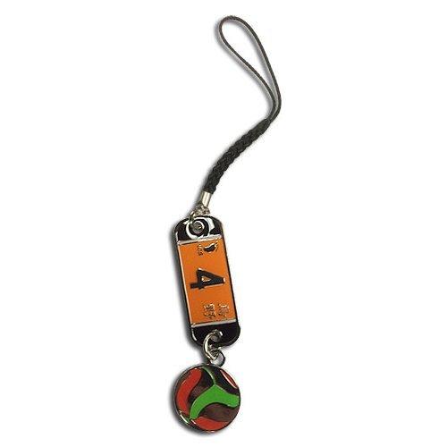 Cell Phone Charm - Haikyu!! - Number 4 Team Uniform Metal New ge17557