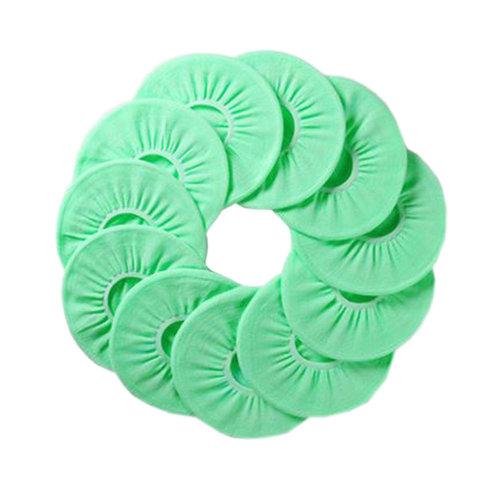 10 Pcs Four Seasons  Washable Potty Toilet Cover O-Type Toilet Seat Cover, Mint Green