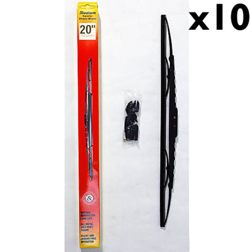 STADIUM - Universal Fit Spoiler Car / Van Wiper Blades 20 inch - 10 PACK