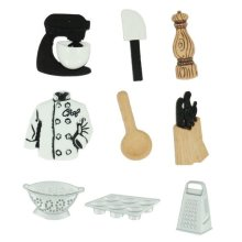 Master Chef - Novelty Craft Buttons & Embellishments by Dress It Up