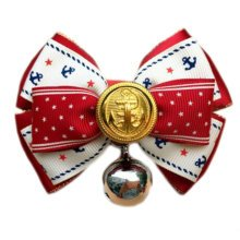 England Style Pet Collar Tie Adjustable Bowknot Cat Dog Collars with Bell-C07