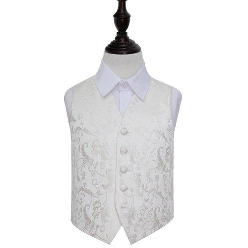 Ivory Floral Wedding Waistcoat for Boys 24'