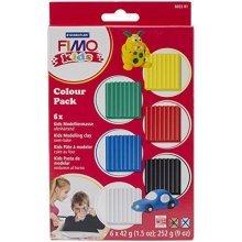 Staedtler - Fimo Kids Colour Pack, Basic - 6 x 42g Blocks