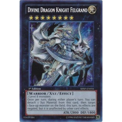 Yu Gi Oh Divine Dragon Knight Felgrand Shsp En056 Shadow Specters 1St Edition Secret Rare
