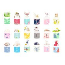 30pcs Postcards for Worth Collecting Lovely Rabbit Pattern