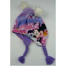 Girls HQ4148 Disney Minnie Mouse Peruvian Winter Hat Purple or Red 52-54 cm