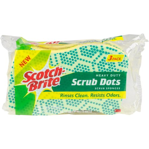 Scotch-Brite Scrub Dots Heavy Duty Scrub Sponge 3/Pkg-