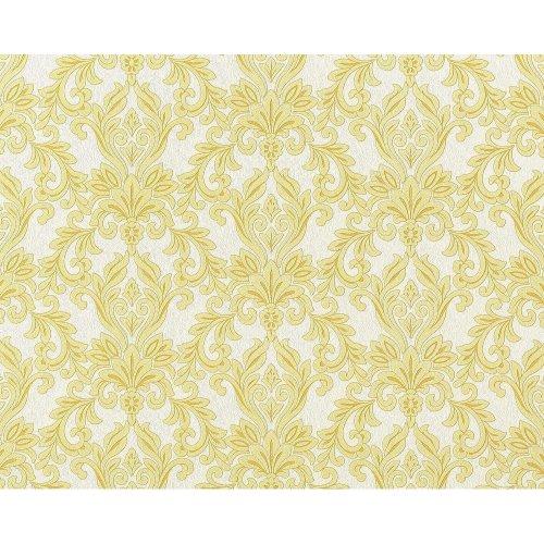 EDEM 696-91 XXL baroque damask non-woven wallpaper white gold-yellow   10.65 sqm