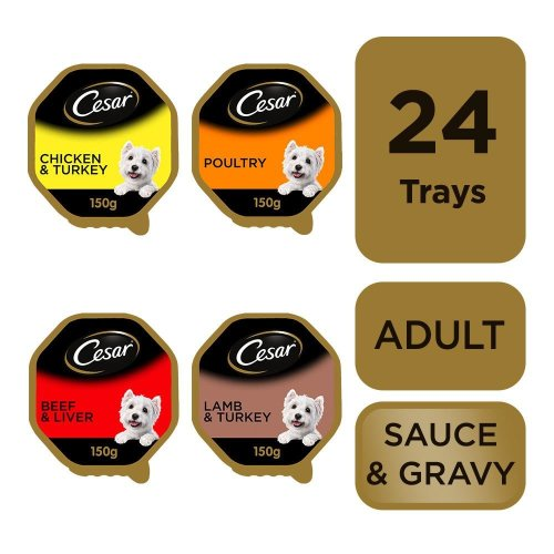 CESAR Classics Dog Trays Mixed Selection 8x150g (Pack of 3)