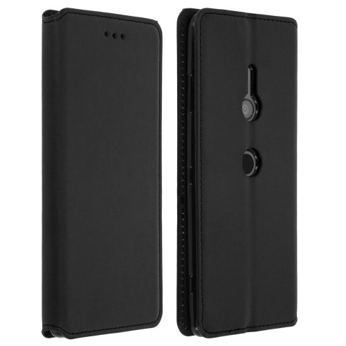 Slim Classic Edition stand case with card slot for Sony Xperia XZ3 - Black