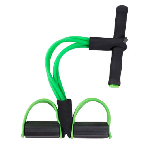 Crunches Chest Expander/Yoga Pedals Elastic Rope Enhanced Edit Green