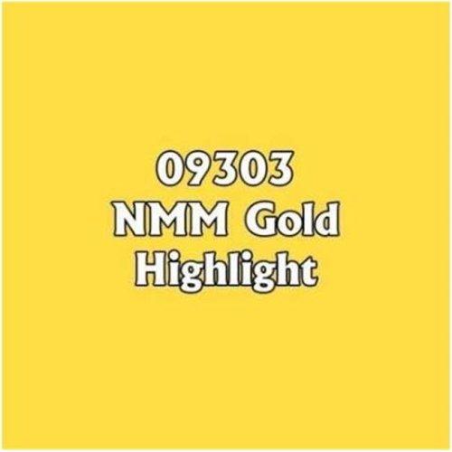 Reaper Miniatures REM09303 0.5 oz Master Series Paint Core Colors Dropper Bottle, NMM Gold Highlight