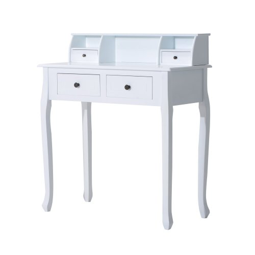 Homcom Dressing Table 4 Drawers Console Bedroom Furniture Nightstand White