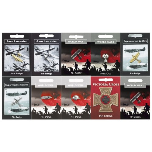 WW1 RAF 100 Year Anniversary Centenary WW2 Pin Badges Souvenir Gifts Pewter