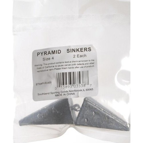 South Bend Pyramid Sinkers 2 Pack 4 Ounce