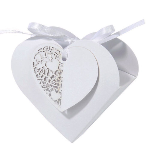Heart Favour Boxes  - Pack of 10 Wedding Favour Boxes