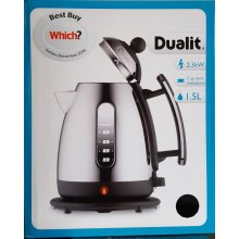 DUALIT 72400 1.5 LITRE CORDLESS JUG KETTLE BLACK & CHROME