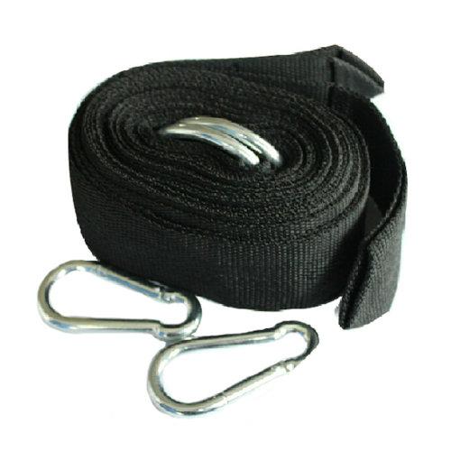Premium Hammock Tree Straps Hanging Kit Rope with Hooks  - Black