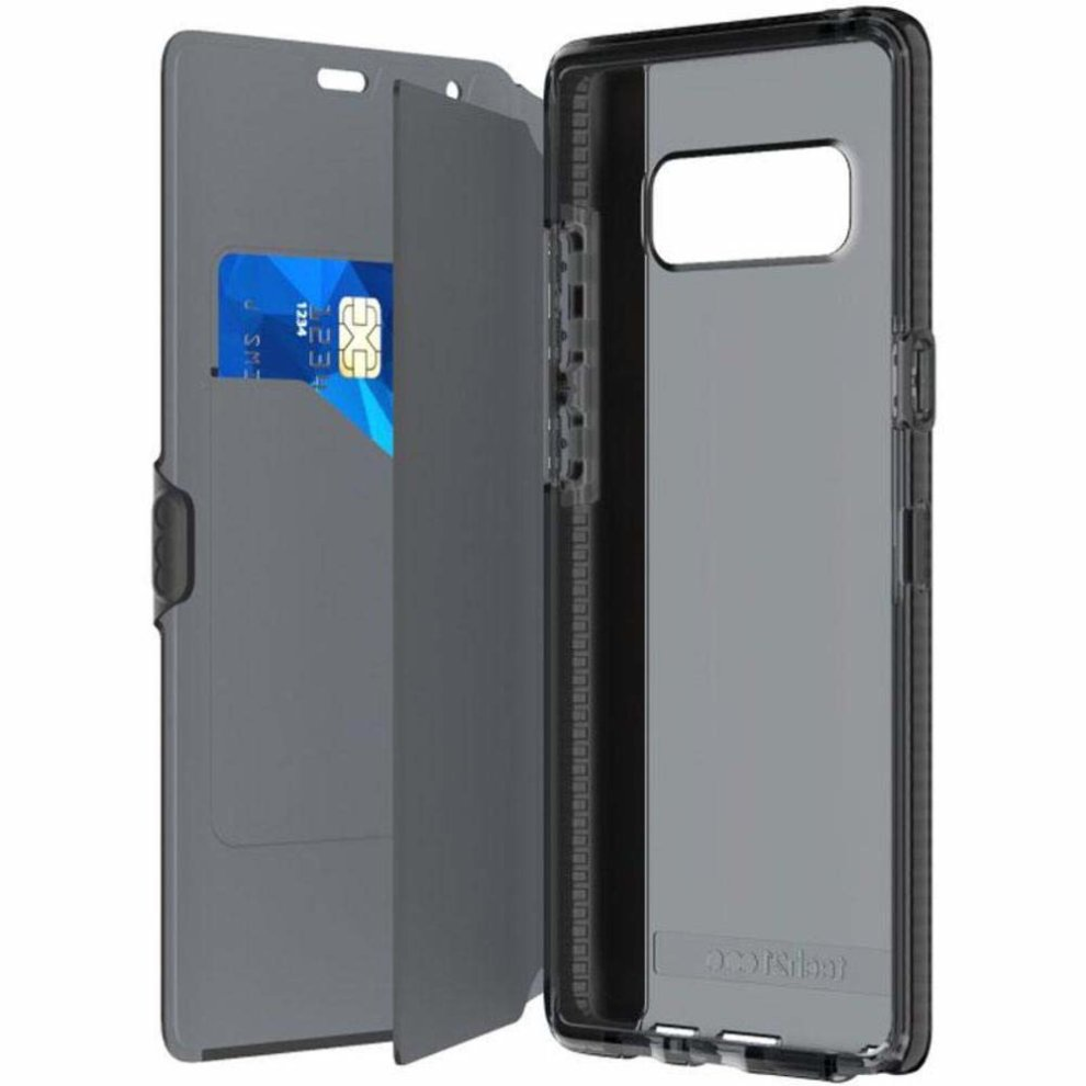new concept 29a14 b2dc1 Tech21 T21-5762 Evo Wallet Folio Case with Concealed Card Storage for  Samsung Note 8 - Black