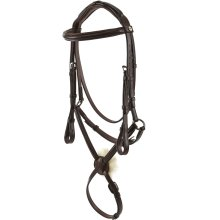 Jeffries Wembley Pro Mexican Grackle with Nylon Lined Rubber Reins: Nut Brown: Full