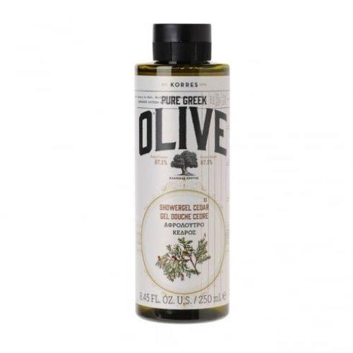 KORRES Pure Greek Olive Natural Olive Cedar Shower Gel, Vegan