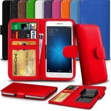 "iTronixs - HTC Desire 650 (5"") High Quality Clamp Style PU Leather Wallet Case Cover"