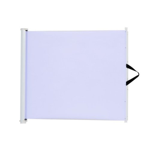 PawHut White Retractable Safety Gate | Folding Barrier & Stair Guard